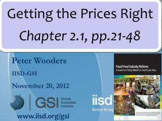 Peter Wooders IISD-GSI November 20, 2012
