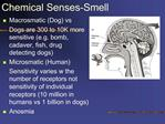 Chemical Senses-Smell