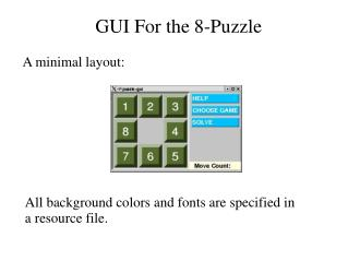 GUI For the 8-Puzzle