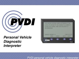 Personal Vehicle Diagnostic Interpreter