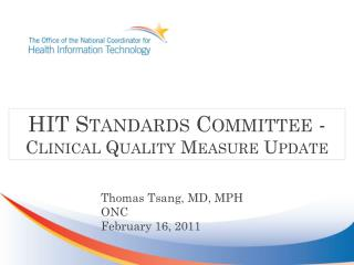 Quality Measures Update