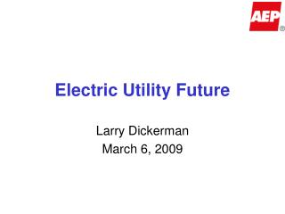 Electric Utility Future