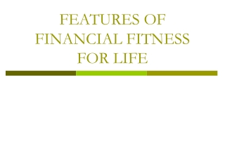 Financial Fitness for Life