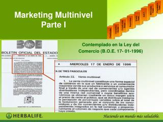 Marketing Multinivel Parte I