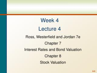 Week 4 Lecture 4