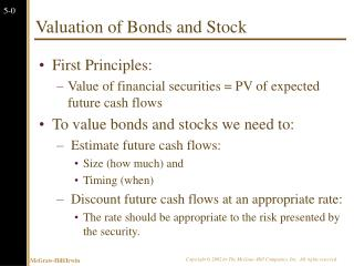 Valuation of Bonds and Stock