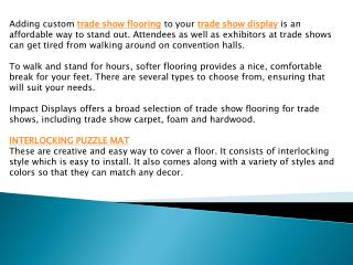 Trade show carpets -To start on the right foot