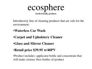 ecosphere Earth friendly products