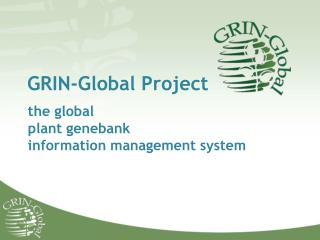 GRIN-Global Project