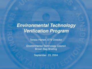 Environmental Technology Verification Program