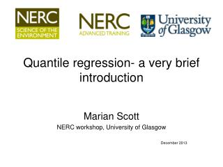 Quantile regression- a very brief introduction