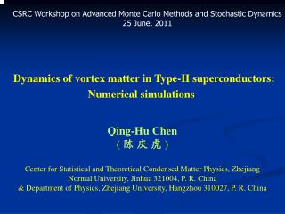 Dynamics of vortex matter in Type-II superconductors:  Numerical simulations