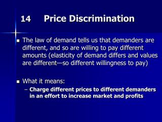 14      Price Discrimination