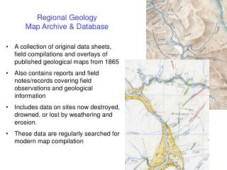 Regional Geology  Map Archive & Database