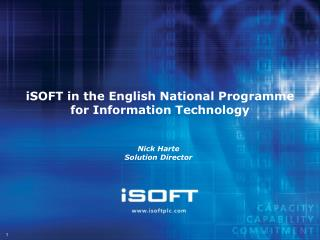 iSOFT in the English National Programme for Information Technology