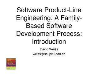 Software Product-Line Engineering: A Family-Based Software Development Process: Introduction