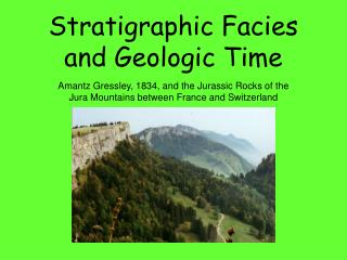 Stratigraphic Facies and Geologic Time