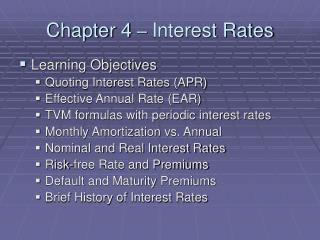 Chapter 4  –  Interest Rates