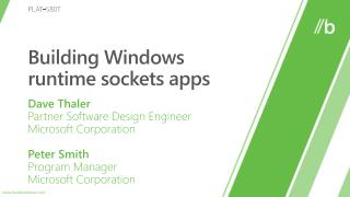 Building Windows runtime sockets apps