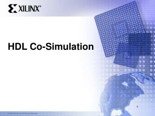 HDL Co-Simulation
