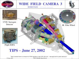WIDE FIELD CAMERA 3 HOME PAGE: wfc3.gsfc.nasa