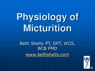 Physiology of Micturition