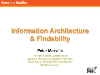 Information Architecture  & Findability