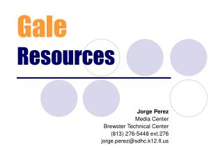 Gale Resources