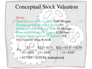Conceptual Stock Valuation