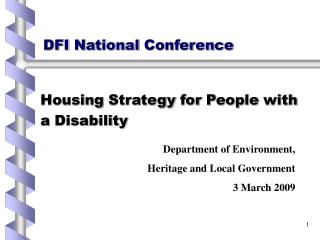 DFI National Conference