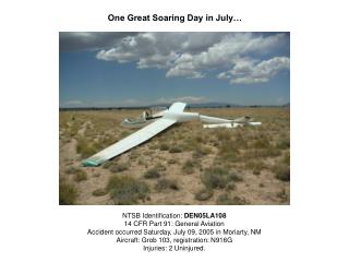 One Great Soaring Day in July