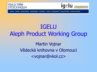IGELU Aleph Product Working Group