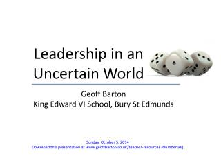 Leadership in an Uncertain World