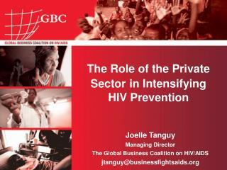 The Role of the Private Sector in Intensifying HIV Prevention