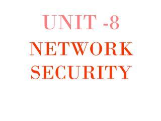 UNIT -8