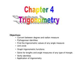 Chapter 4 Trigonometry