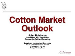 Cotton Market Outlook
