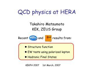 QCD physics at HERA