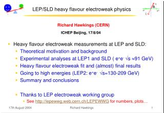LEP/SLD heavy flavour electroweak physics