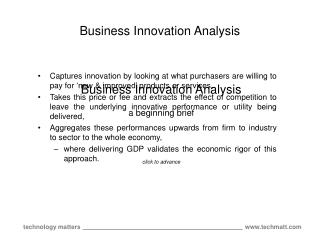 Business Innovation Analysis