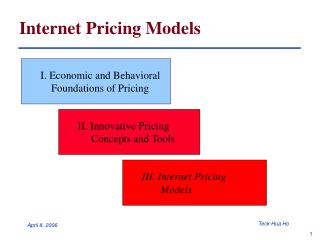 Internet Pricing Models