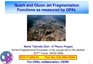 Quark and Gluon Jet Fragmentation Functions as measured by OPAL