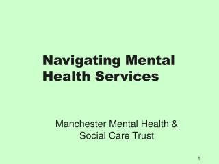 Navigating Mental Health Services