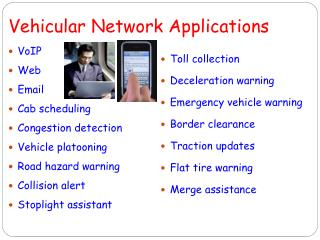 Vehicular Network Applications