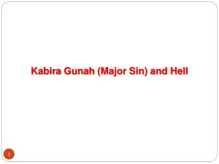 Kabira Gunah  (Major Sin) and Hell