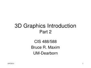 3D Graphics Introduction Part 2