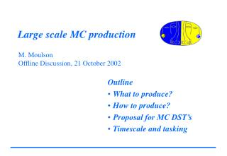 Large scale MC production