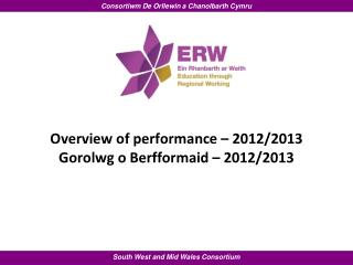 Overview of performance – 2012/2013 Gorolwg o Berfformaid – 2012/2013