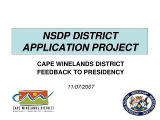 NSDP DISTRICT APPLICATION PROJECT