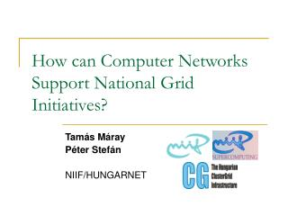 How can Computer Networks Support National Grid Initiatives?